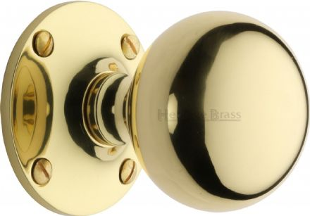 M Marcus Heritage Brass WES970-PB Westminster Mortice Knob On Rose Polished Brass